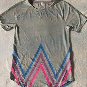 Ivivva grey stripe abstract zig zag size 12
